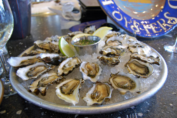 Starting at five, they host $1 Sweetwater oysters on the half shell